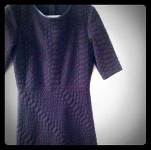 Sandra Darren Deep Plum/Purple Sleeved Dress